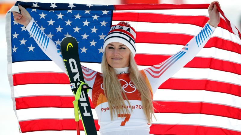 Lindsey Vonn, who won a bronze medal in the downhill, scattered her grandfather's ashes near the course in South Korea.