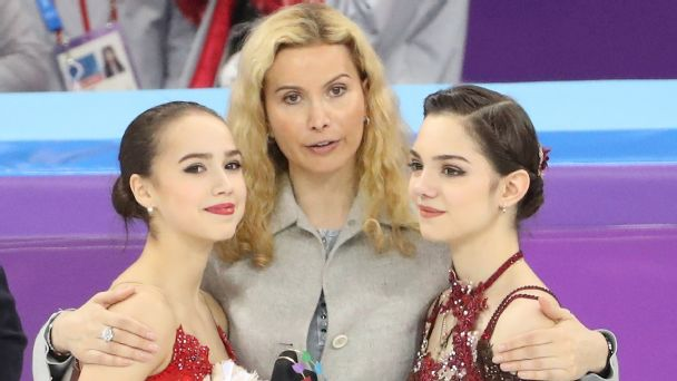 Gold medal winner Alina Zagitova, left, of the Olympic Athletes from Russia, coach Eteri Tutberidze and silver medalist Evgenia Medvedeva were far and away better than the rest of the competition.