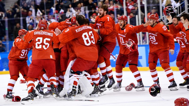 The win on Sunday is the first Russian gold medal in hockey since 1992, when the team also played under a neutral flag as the Community of Independent States.