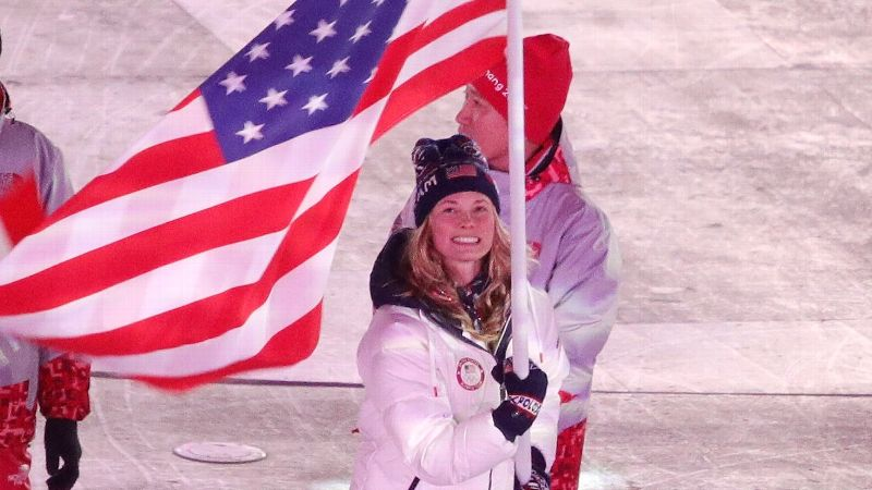 Olympic Closing Ceremonies - Jessica Diggins