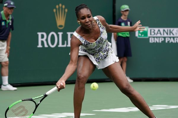 Venus Williams, who at 37 is the oldest woman in the draw, has yet to drop a set at Indian Wells.