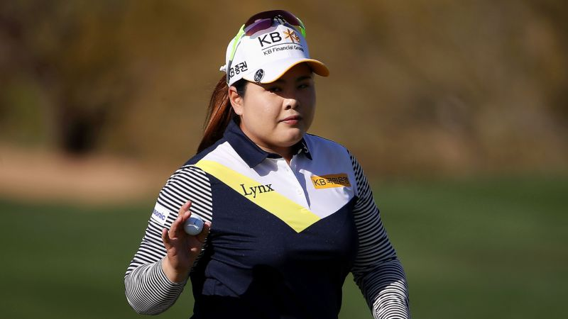Inbee Park's eagle on the par-4 third highlighted her third-round 63, and she'll take a one-shot lead into the final round of the Founders Cup.