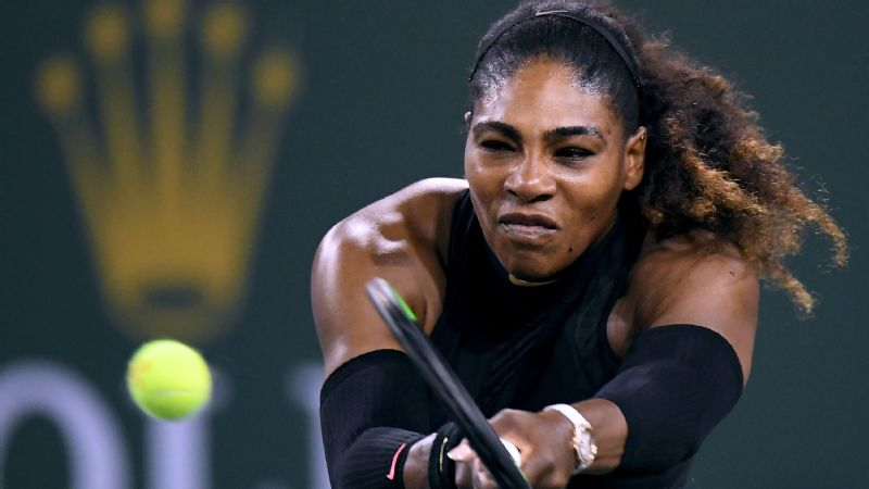 Serena Williams action