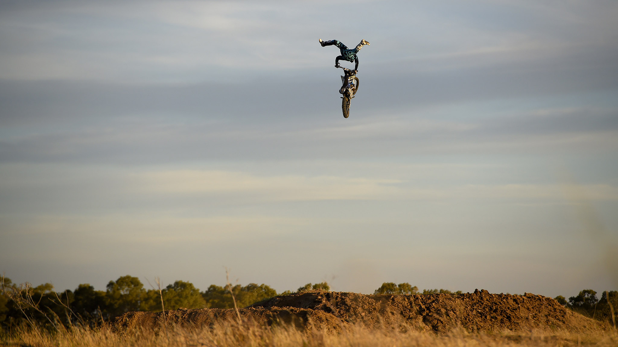 Skying over Moto X Dirt