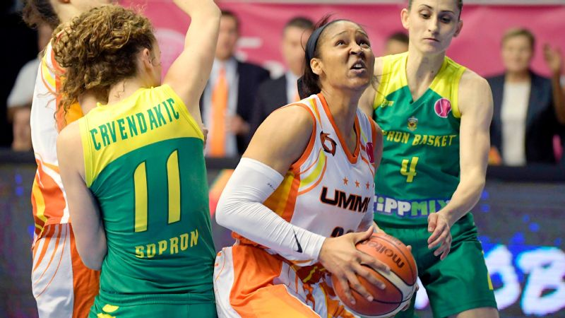 Maya Moore added another championship Sunday as her UMMC Ekaterinburg team beat Sopron to win the EuroLeague Final Four women's basketball title.