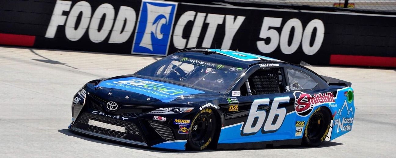 Chad Finchum makes his NASCAR Cup Series debut at Bristol in April driving the #66 Food City GoCasrt / Smithbuilt Homes Toyota.