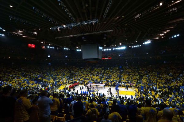 Oracle Arena moment of silence