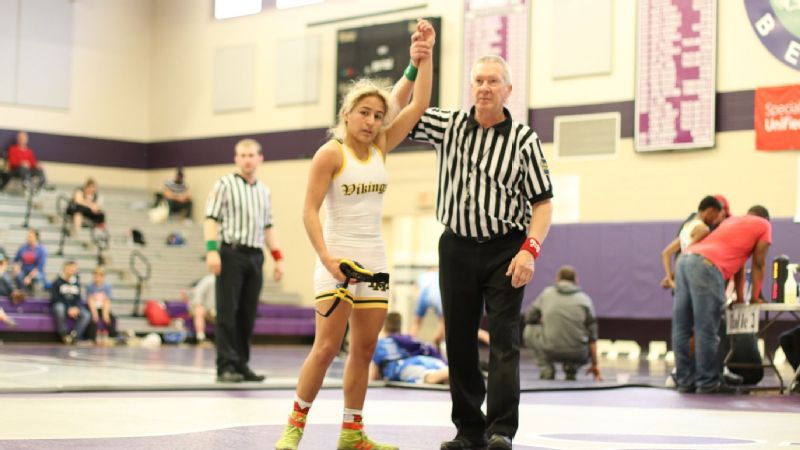 Cassy Lopez finished high school with a 45-29 record, pinning male opponents 32 times.