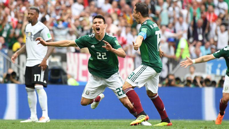 Mexico vs. Germany (Hirving Lozano celebration )