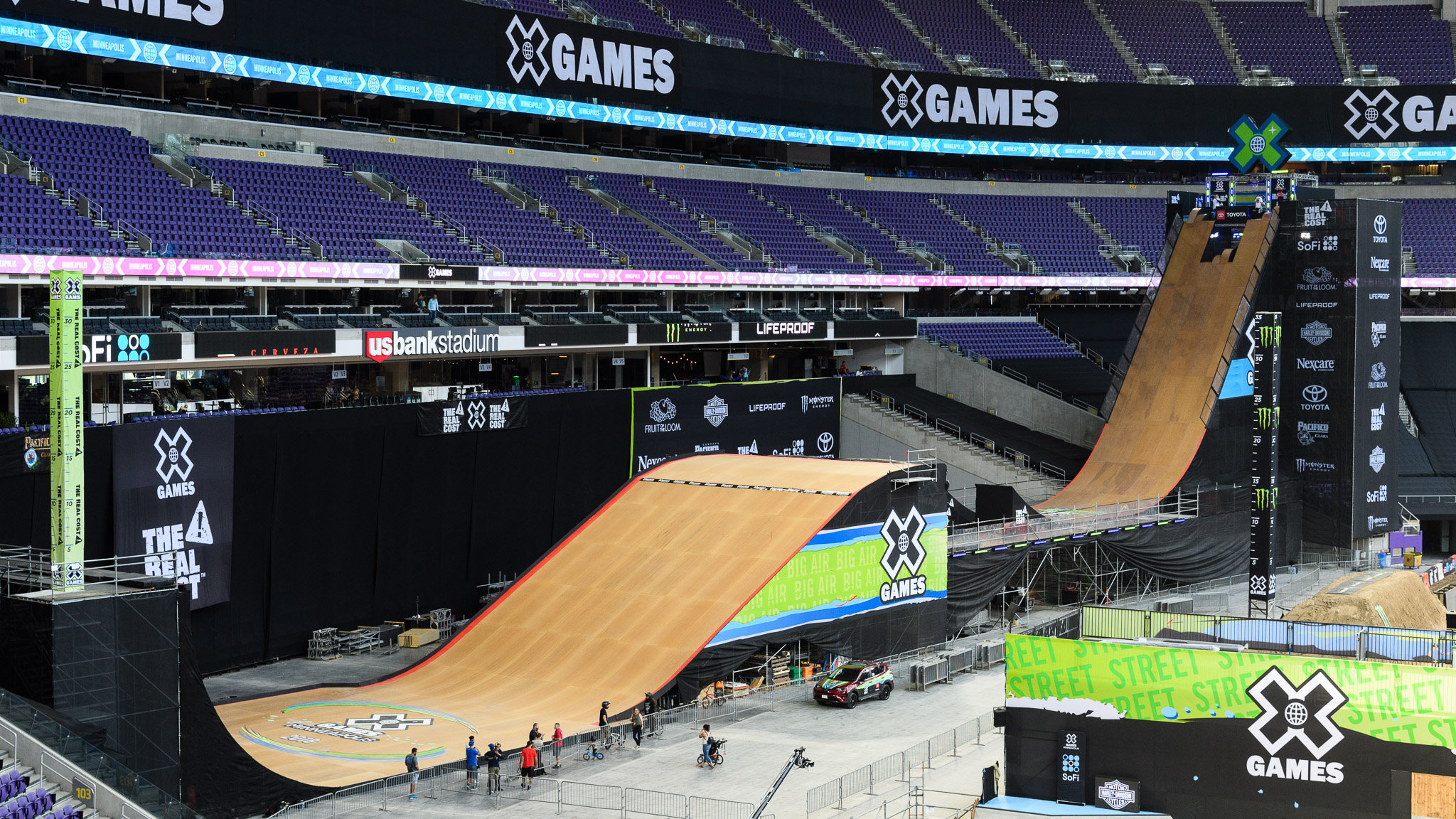 In just a few days, those stands will be packed with Big Air fans.