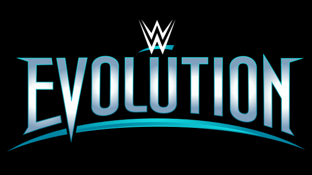 The logo for October's all-women WWE pay-per-view event, Evolution.