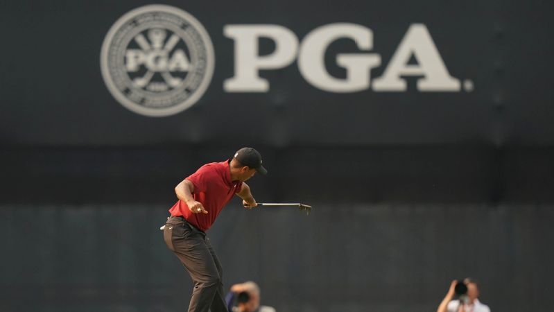 Tiger Woods made a run to remember on Sunday at the PGA but just fell short.