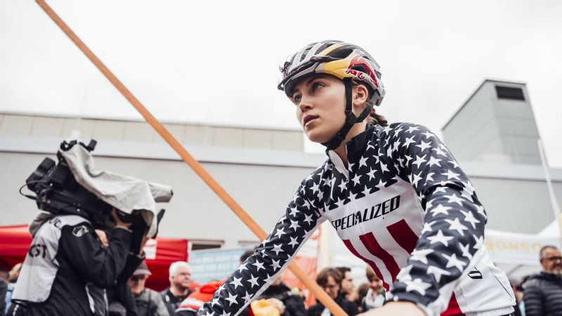 Kate Courtney finished the UCI World Cup season ranked 9th in the world, and goes into the world championships this weekend as one of the favorites.