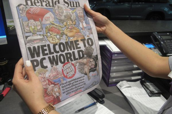 Under the headline 'Welcome to PC World,' the Australian newspaper Herald Sun redisplayed a controversial cartoon of Serena Williams that has been widely condemned as racist.