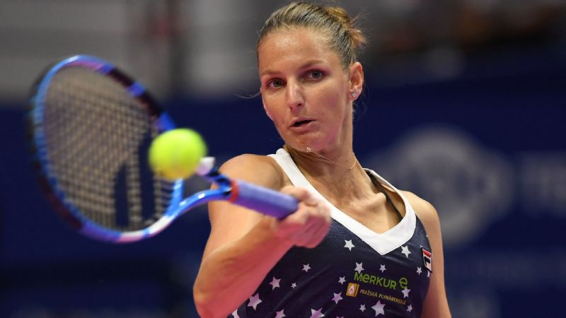 Karolina Pliskova ended opponent Naomi Osaka's 10-match winning streak on Sunday.