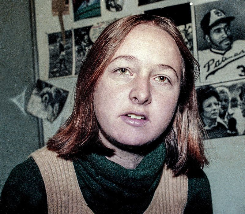 Sports Illustrated writer Melissa Ludtke is seen, 1978, in New York.