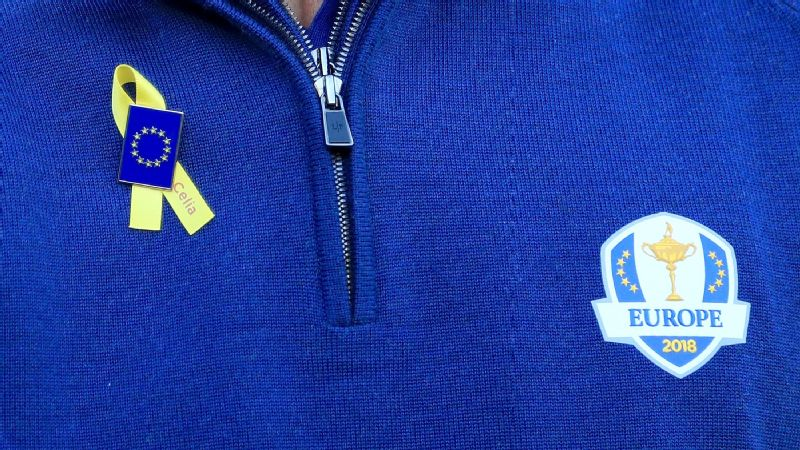 Players will be wearing yellow ribbon in memory of Spanish golfer Celia Barquin Arozamena during the Ryder Cup at Le Golf National in Paris.