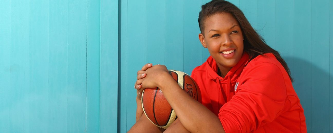 Liz Cambage poses during a portait shoot at Brighton Beach in 2011.