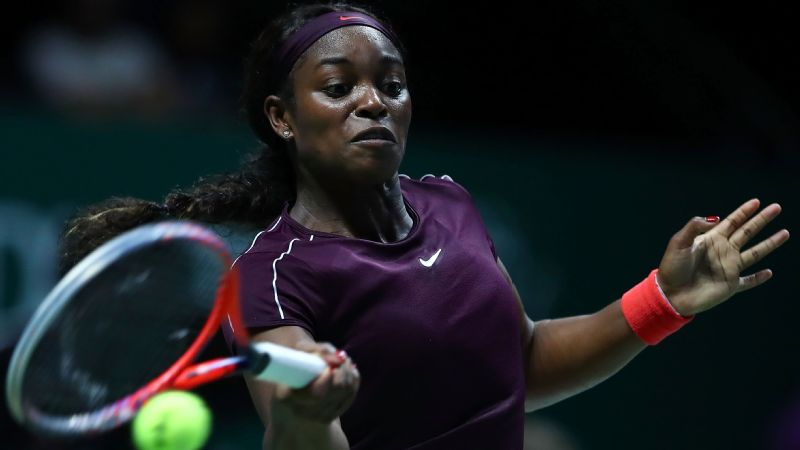Sloane Stephens is 2-0 in the round-robin stage of the WTA Finals this season.