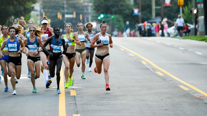 Allie Kieffer during the 2018 Peachtree Road race