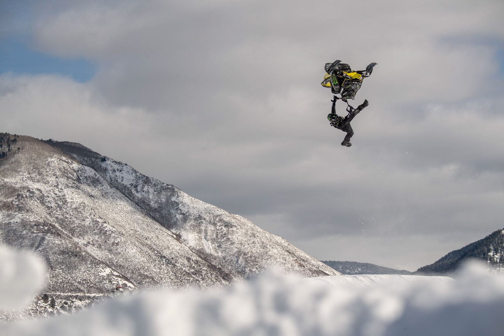 Joe Parsons, Snowmobile Freestyle practice