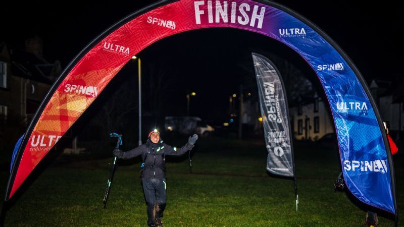 Jasmin Paris, 35, became the first woman to ever win the Montane Spine Race in January, finishing 268 miles in 83 hours and 12 minutes.