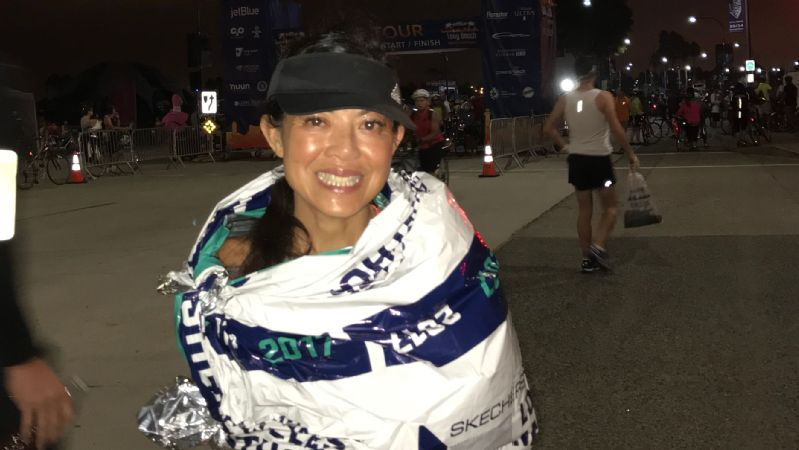Ann Hirakawa has completed 22 marathons, but was unable to finish last year's Boston Marathon because of hypothermia.