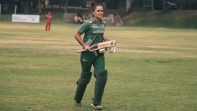 Anjuli Ladrn forms part of a Mexican women's national cricket team that has thrived over two years through grass-roots involvement.