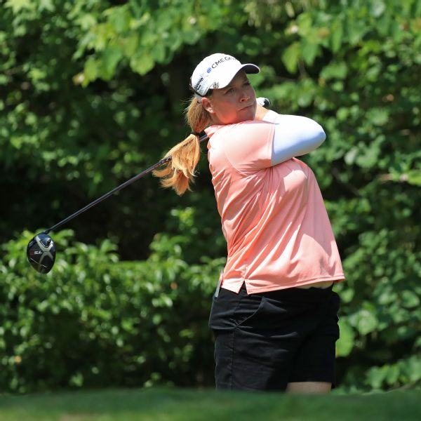Two-time major winner Brittany Lincicome played until the end of May, when she'd reached about six months into her pregnancy.