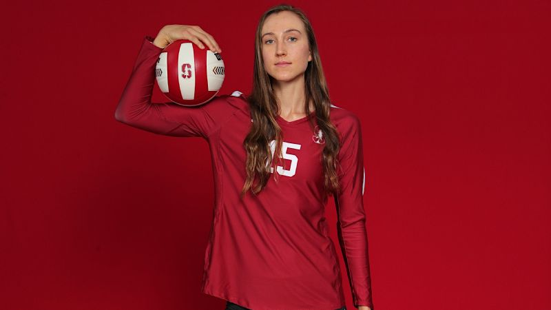 Madeleine Gates, a 6-foot-3 middle blocker with three years of Pac-12 experience at UCLA, looks to help the Stanford Cardinal reign atop the volleyball world in her final year of eligibility.