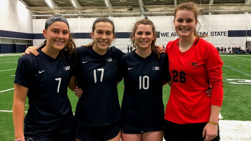 Sam Coffey (second from the left) hopes to help propel Penn State deep into the NCAA tournament.