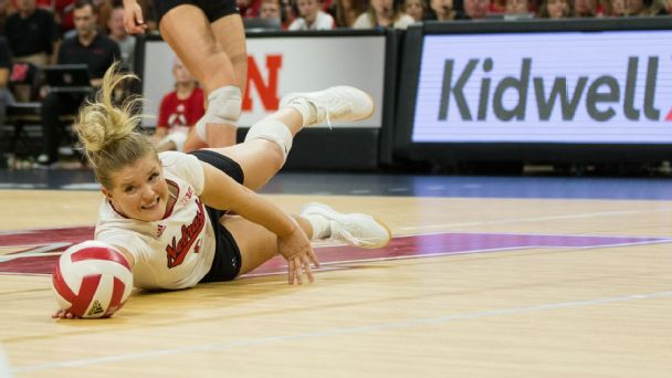 In a rematch of last year's NCAA volleyball championship game, No. 1 Nebraska fell short, losing to No. 2 Stanford in four sets.