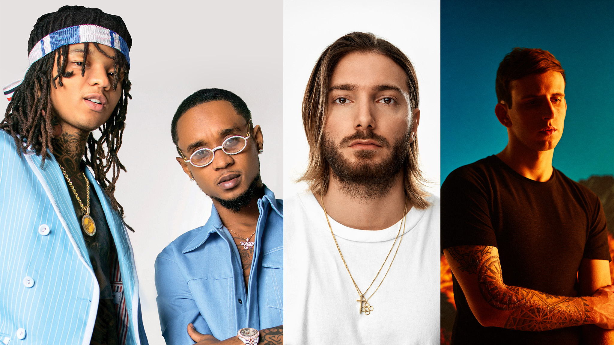 X Games returns to Aspen for 2020 on Jan. 23 - 26, featuring live music acts (left to right) Rae Sremmurd, Alesso and Illenium, plus Bazzi (not pictured).