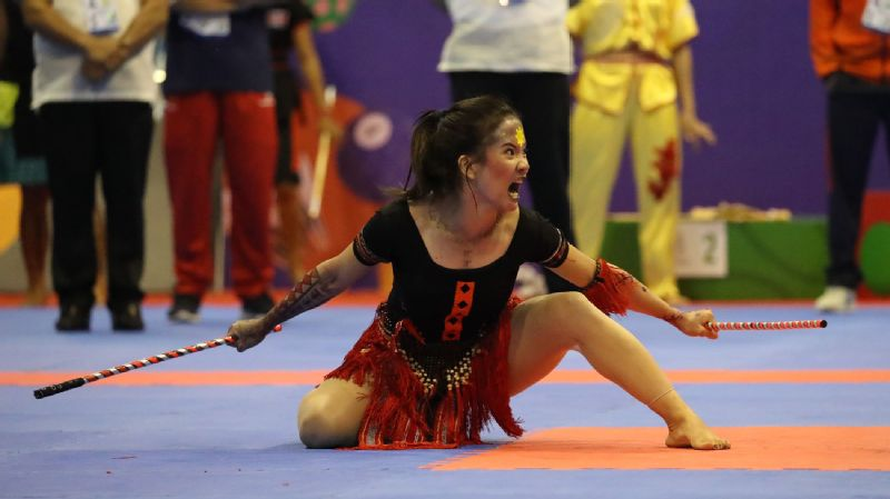 Mary Allin Aldeguer was one of the arnis athletes who won a gold medal for the Philippines.