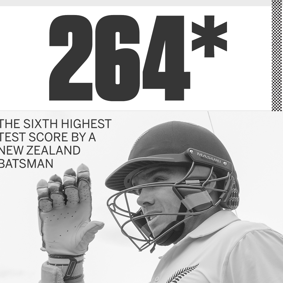 Tom Latham registers highest individual score while carrying bat