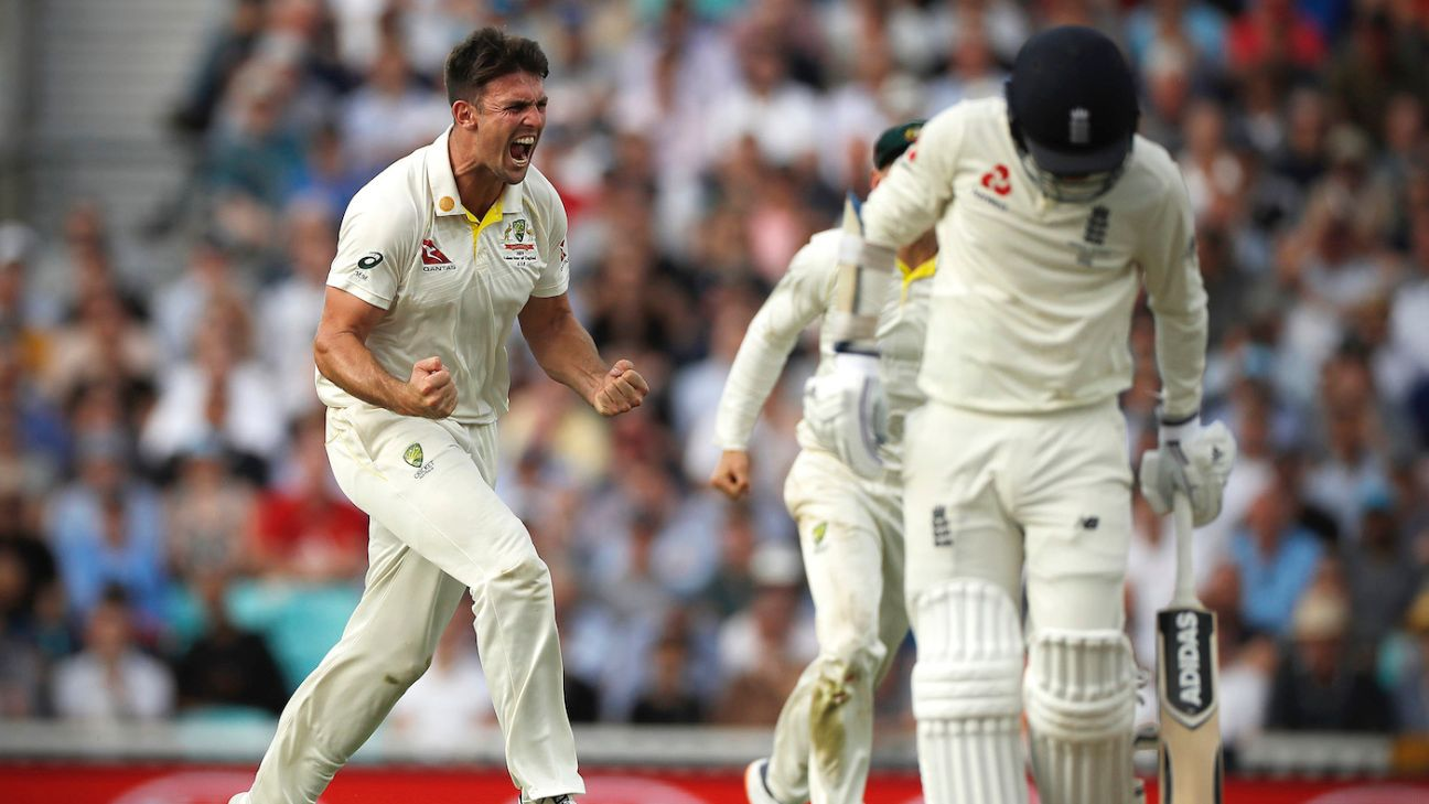 Mitchell Marsh's swing provides late relief for Australia