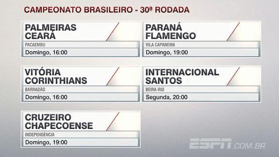 cd6cd2a8e3 Veja o  palpitão do Antero  para a 30ª rodada do Campeonato Brasileiro -  ESPN Video