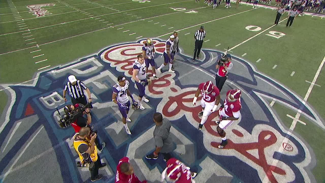 Alabama Refuses To Shake Hands After Coin Toss Espn Video