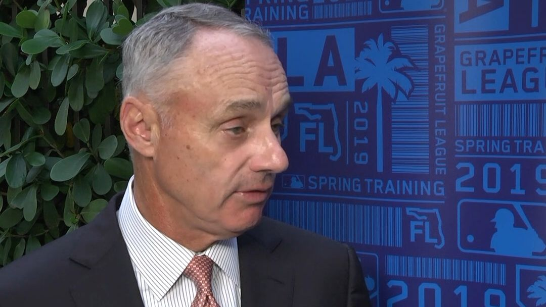 Rob Manfred addresses pitch clocks coming to springs training, slow free-agent market