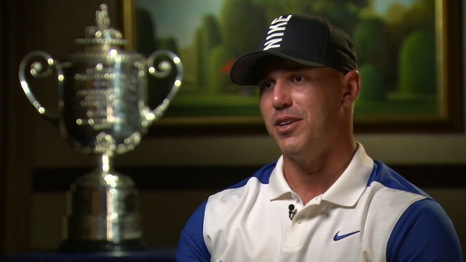 Koepka struggles, holds off Johnson for PGA win