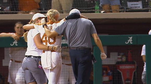 Texas pitcher 'doing well' after being hit in face