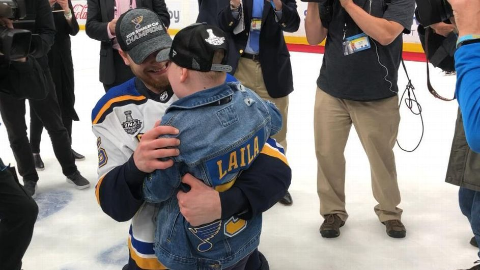 Blues superfan Laila celebrates Cup win with Parayko