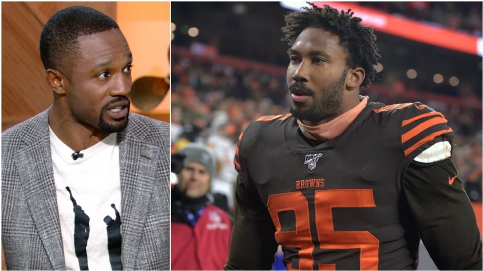 Source: Browns' Myles Garrett points to '13 Antonio Smith ban during appeal