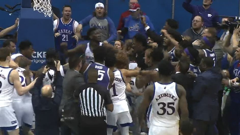 How college basketball moves on from the Kansas-Kansas State brawl
