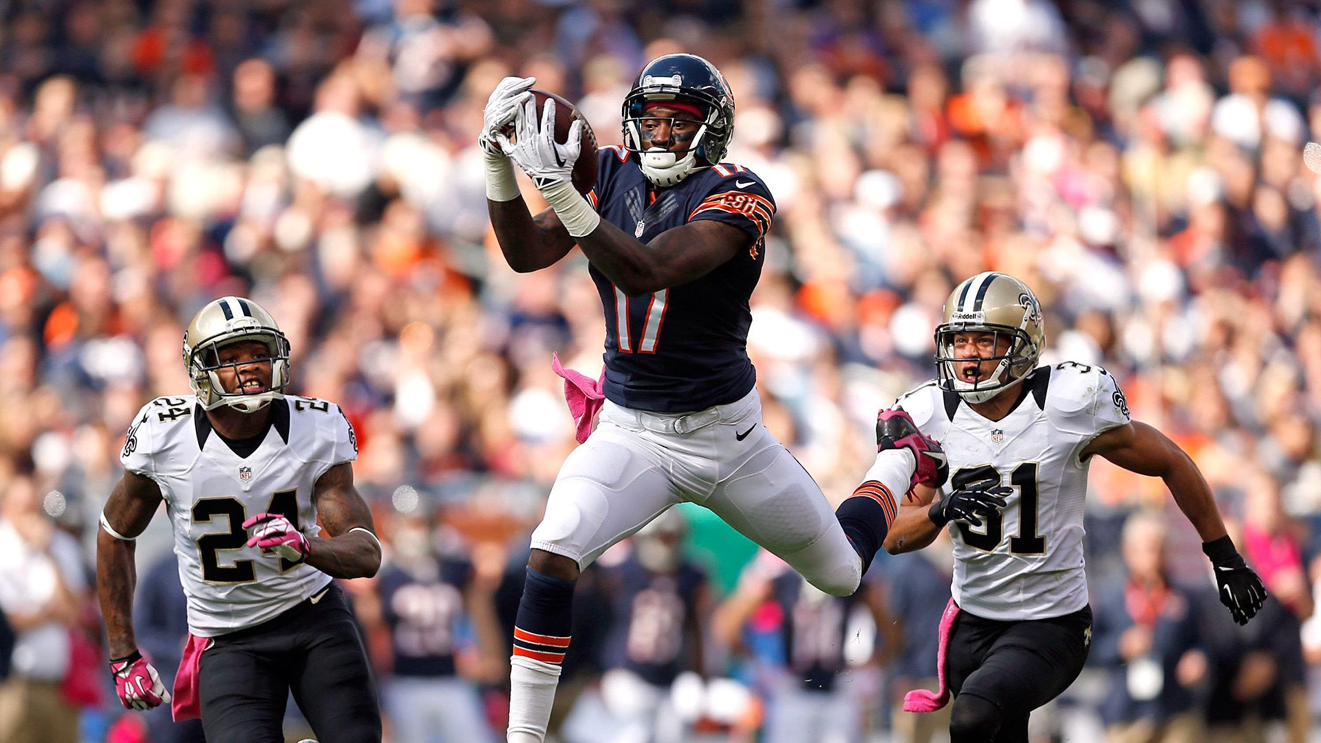 super popular 96081 6d21f Chicago Bears receiver Alshon Jeffery becoming harder to ...