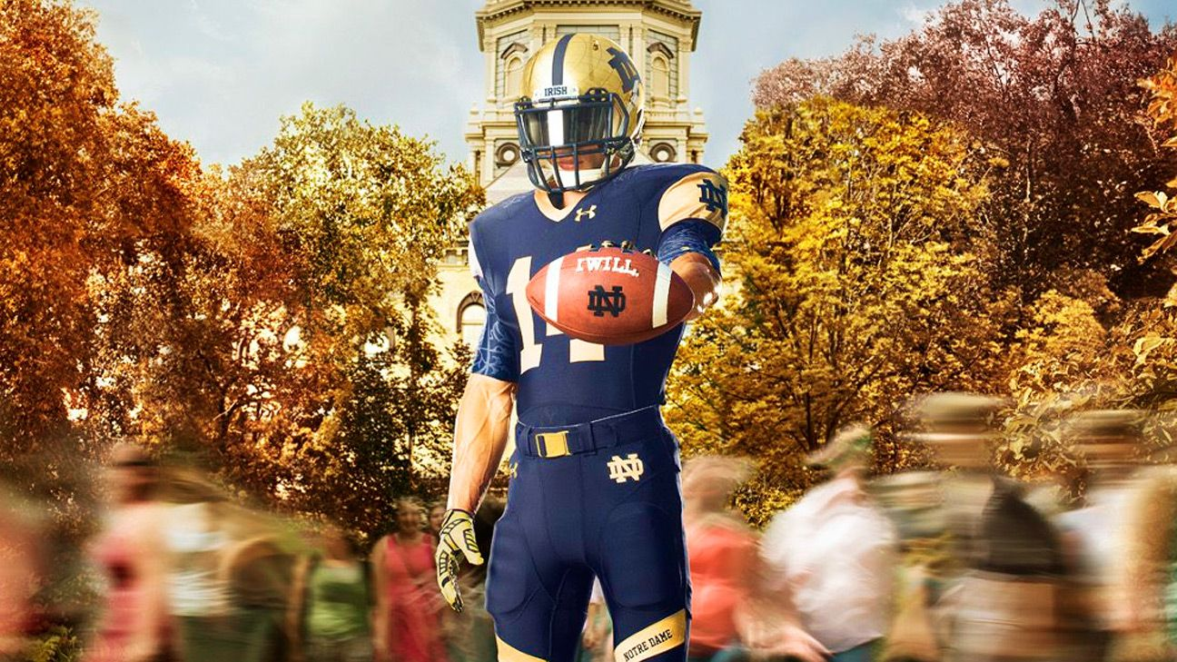 Notre Dame Fighting Irish jerseys for Shamrock Series game vs. Purdue  Boilermakers unveiled by Under Armour 87464616d