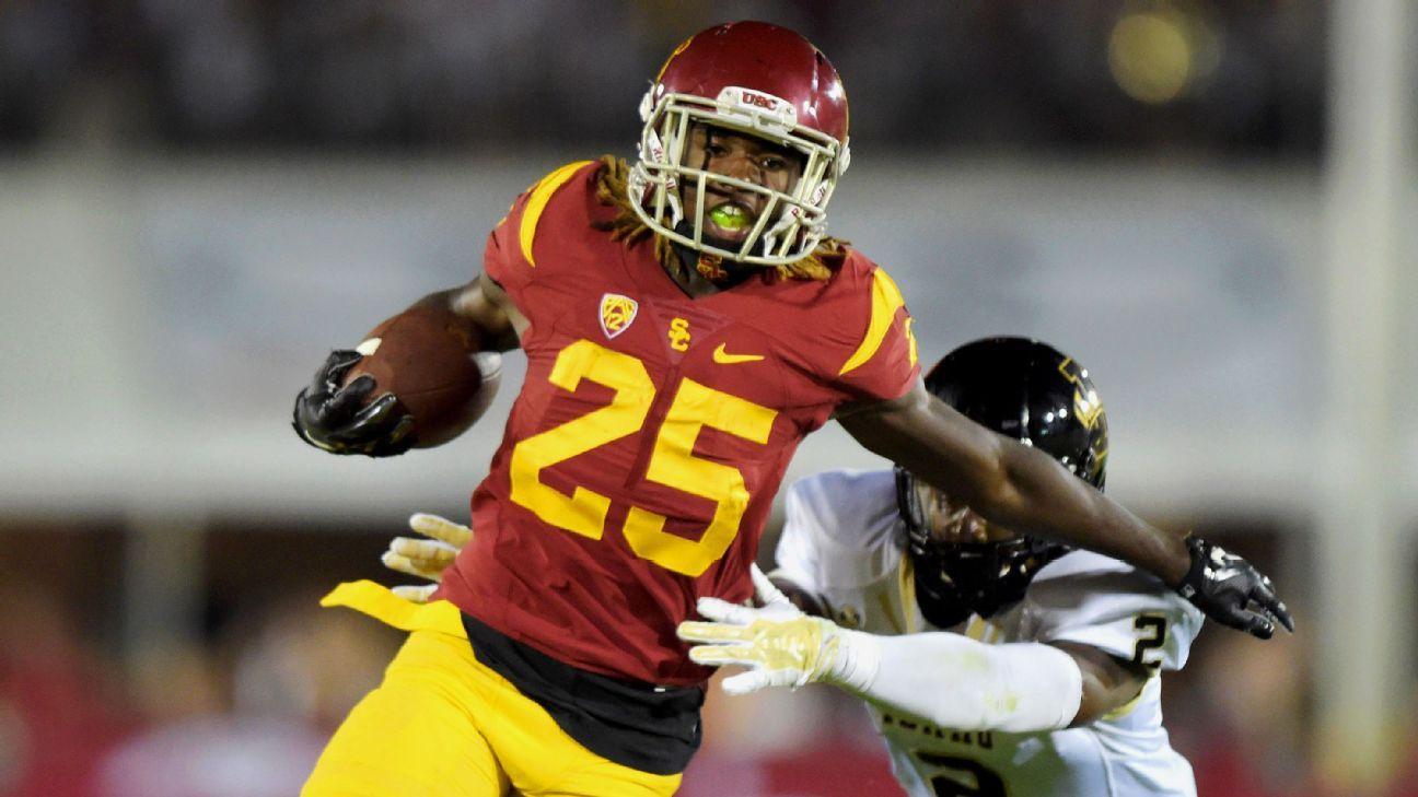 hot sale online d5b81 e6edb USC will face California without Ronald Jones, Steven ...