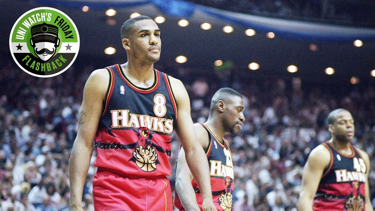 super popular ef284 5399a Uni Watch's Friday Flashback -- Wild, wacky NBA uniforms ...