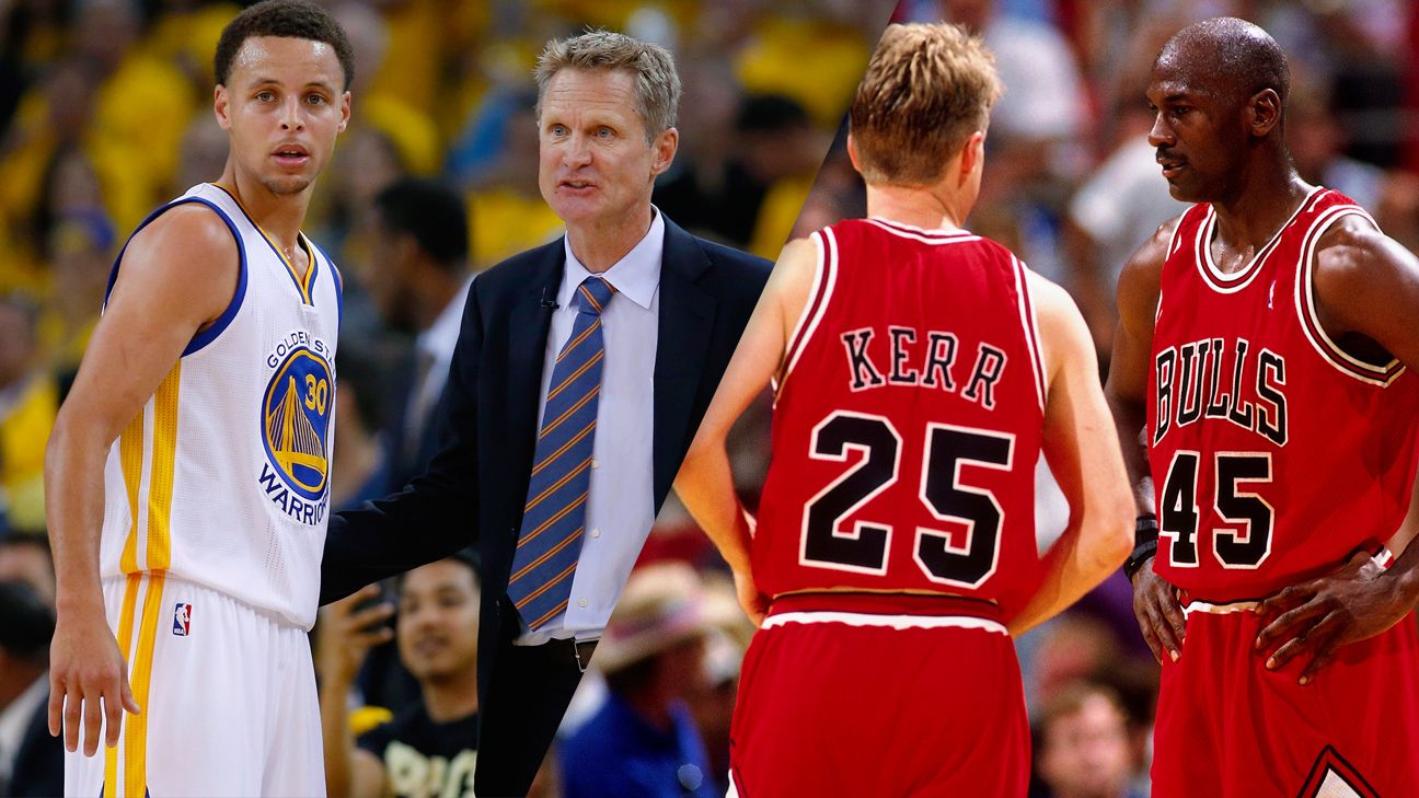 dfd048eb0 NBA -- Steve Kerr on the 2015-16 Golden State Warriors vs. 1995-96 Chicago  Bulls