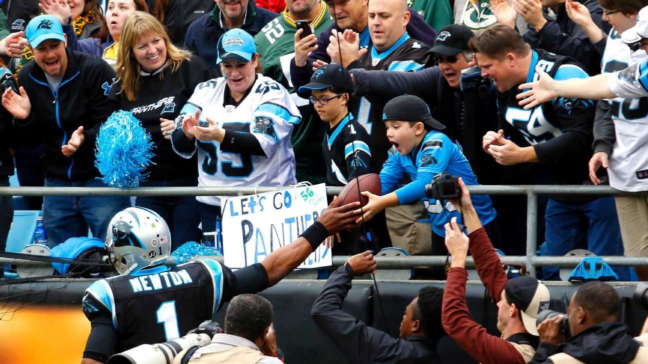 a31e5bcc Carolina Panthers QB Cam Newton not fined for giving kids footballs ...